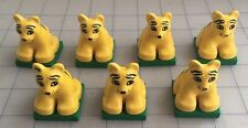 Pride Family of 7 Vtg Lego Duplo TIGERS Cubs Zoo Big Wild Cat Safari