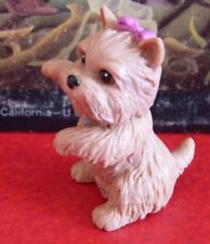 PVC Toy Figurine Cute Realistic Schnauzer Dog with Blue Collar China