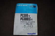 KOMATSU PC300-5 EXCAVATOR Parts Manual book catalog spare crawler trackhoe 1993