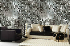 Silver Sequins 18' x 9' (5,50m x 2,75m)-Wall Mural