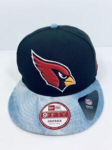 Arizona Cardinals New Era Snapback 9fifty Black Blue Denim Tie Dye NFL Cap/Hat