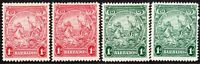 Barbados 1938 part set multi-script CA mint SG249/249a/249b/249c (4)