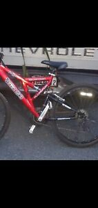 mongoose 21 speed mountain bike dark red aluminum  frame