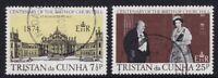 TRISTAN da CUNHA 30 NOV 1974 WINSTON CHURCHILL CENTENARY SET OF BOTH  FINE USEDa