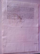 DOCUMENTO ORIGINAL FIRMADO POR FELIPE IV REY EN 1633 CON LA FIRMA DEL REGISTRO O
