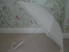 Crema avorio Pizzo Vittoriano Matrimonio Corse Parasol Ombrello Impermeabile