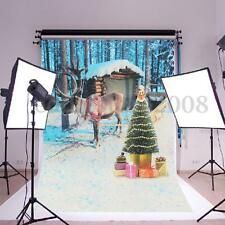 3x2FT Christmas Tree Reindeer Photography Backdrop Studio Photo Prop Background