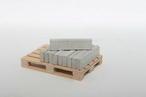 10 Stk Beton Tiefbord Randstein 1:22,5 - 1:18 für Modellbau   Diorama Ladegut