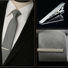 New Gentleman Silver Metal Simple Necktie Tie's Clip Bar Clasp Practical Plain