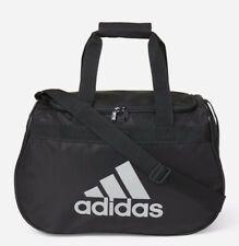 7811246507c8 ADIDAS Diablo SMALL Duffel Bag BLACK SILVER Sports Gym Locker Travel NEW NWT
