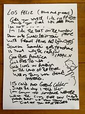 Jesus And The Mary Chain  - Promo Song Sheet Signed Autographed (2)