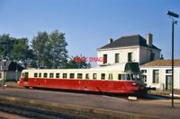 PHOTO  A STANDARD GAUGE S.N.C.F. RAILCAR AT GUINGAMP