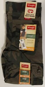 Boy's Wrangler, Camouflage Cargo Jeans, Sizes: 5 (Slim), 6 (Regular) or 7 (Slim)