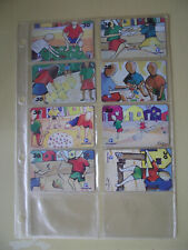 CHILDREN'S PLAY - Complete Set of 8 Different Phone Cards from Brazil