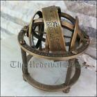 """Antique Style Brass Armillary Sphere 3.5"""" Tabletop Astrolabe Globe Vintage Gift"""