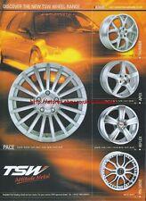 "TSW ""Discover The New TSW Range"" Wheels 2003 Magazine Advert #181"