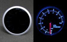 Öl Druck Anzeige Öldruckanzeige Instrument 52mm SMOKE LINE inkl. GEBER BLAU TOP