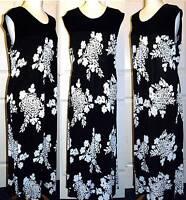 REDUCED! QUALITY MARINA KANEVA BLACK & CREAM STRETCH MAXI DRESS SIZE 16 30/32