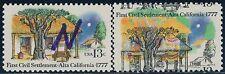 "#1725 Var. ""First Settlers Alta California"" 13¢ Major Color Shift Error Bq8673"