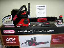 "OREGON POWERNOW 40 VOLT, 14"" ELECTRIC CHAIN SAW CORDLESS CHAIN SAW SELF SHARPENS"