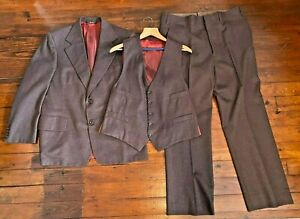 60s70s Men/'s 41R M-L Saxony Hall Wilson/'s Montevideo MN Minnesota Western Suit Jacket Brown Suedecloth Sport Coat Blazer Cowboy