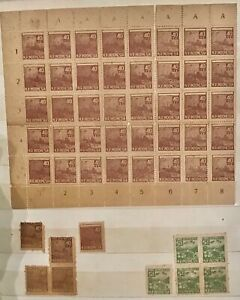 Indonesia Dutch E indies Japan Occupation? Old collection many Plate No.scarce