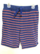 Boy's Lands' End Terry Knit Shorts Blue Orange Size M 10-12