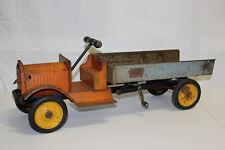 """Vintage Keystone Packard Pressed Steel Ride On Dump Truck 26"""" Original Must L@@K"""