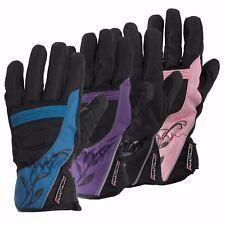 Rayven Diamond Ladies Leather Motorcycle Motorbike Gloves Waterproof Reinforced