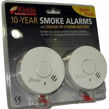 Brand NEW Kidde 10 Year Smoke Alarms with Sealed-in Lithium Battery 2 Pack Twin