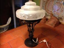 Lampe Art Déco pied en fer forgé