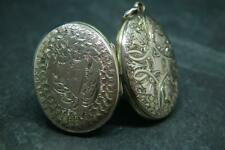 Lovely Antique Victorian 9ct Gold Engraved Photo Locket Pendant Charm