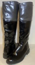 Superb Stylish Size 4 Ladies Women's Winter Black Gloss Riding Boots AC 04
