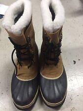 SOREL Caribou Men's Winter Snow Boots Buff Waterproof  Size 13