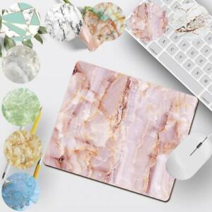 Colorful Marble Anti-Slip Leather Desk Mouse Mat Pad Laptop Office Computer Home