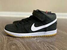 """Nike SB Dunk Mid Pro ISO """"Orange Label"""" Black White Gum CD6754-001 Men's 8 NEW"""