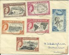 Ascension SG#57-62 used in St Helena NO/19/56, SCARCE USE