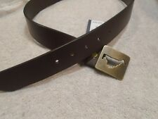 vineyard vines Brown Leather Belt with Vineyard Cutout Buckle NWT size 32 $98.50