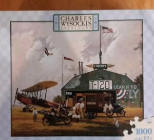 Charles Wysocki 1000 Pieces Airplanes Americana Hero Worship NEW