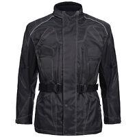 Motorradjacke Herren Textil Jacke Cordura Roller SCHWARZ  Gr. M bis 6XL 777