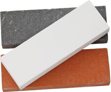 "Rough Rider 3pc Sharpening Stone Set RR3000 Each measures 3 1/2"" x 1 1/8"" x 1/2"""