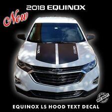 Chevrolet Equinox LS HOOD TEXT Decal Stripes Pre Cut Fits 2018 Models |6