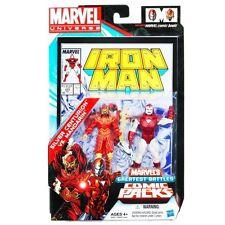 """Marvel univers ironman v mandarin 3.75"""" figure comic pack boxed set rare"""