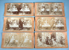 1902 Naughty 12 Stereoview Photo Cards Complete Set French Cook William H. Rau
