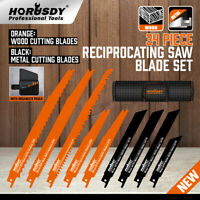 34 PC Reciprocating Saw Blade Set Metal Woodcutting Pruning With Organizer Pouch