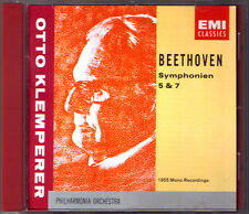 Otto Klemperer: Beethoven Symphony No. 5 & 7 EMI cd sinfonie Philharmonia 1955