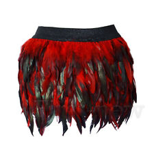 Womens Feather Skirt Fashion Girl Peacock Feathers Mini Skirts Cosplay Costume