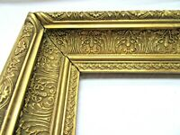 "ANTIQUE FITS 9 X11"" GOLD PICTURE FRAME WOOD GESSO ORNATE FINE ART COUNTRY"