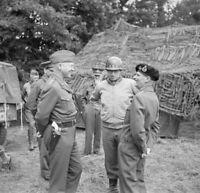 WW2 WWII Photo Generals Montgomery Patton Bradley France World War Two / 1700
