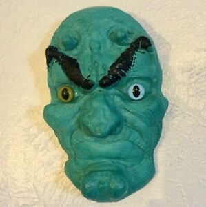 Turquoise Devil Mask Decorative Hanging Wall Mount Mask Hand Made 8 x 5.5